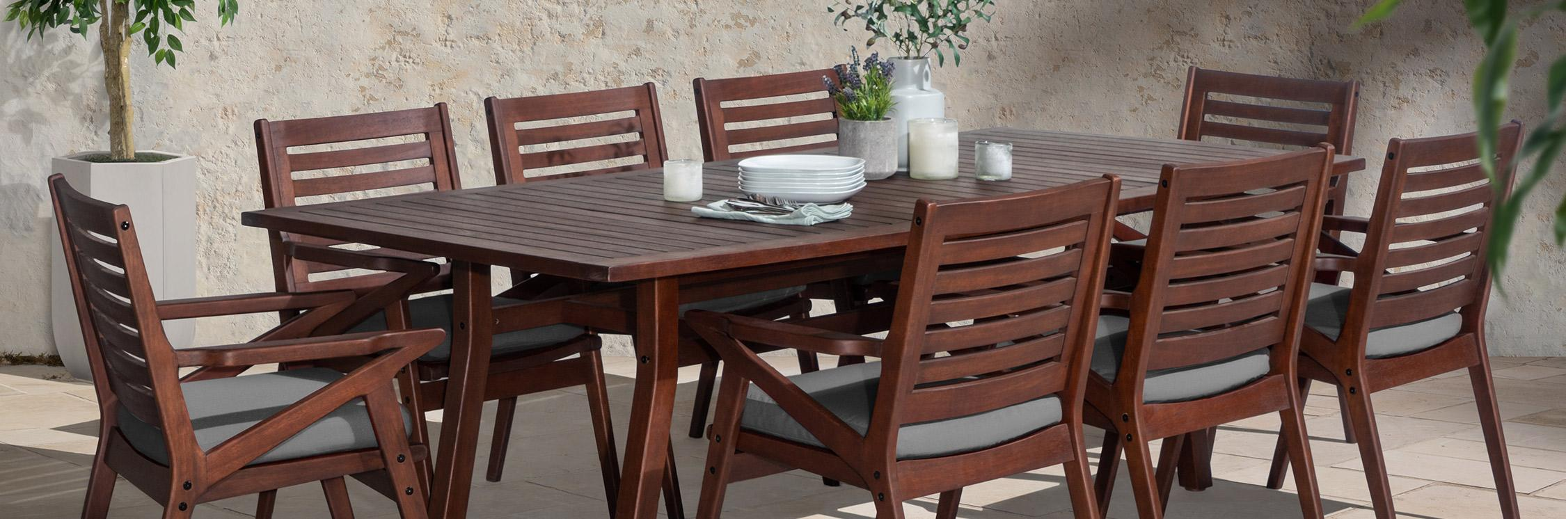 All-Weather Outdoor Wood Sets