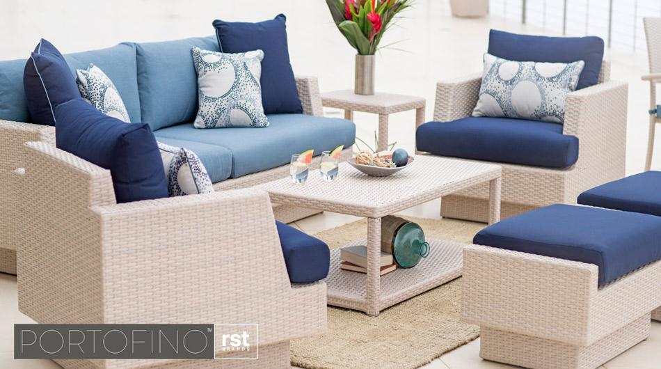 Portofino Patio Furniture Newport Blue Collection Rst Brands