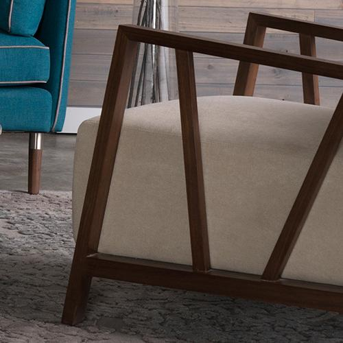 Solid walnut wood frame provides strong support and built to last.