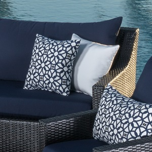 Deco 5pc Club Chair And Ottoman Set Navy Blue Rst Brands