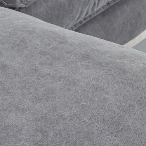 Styled in 100% canvas linen cotton in Stonewashed Grey.