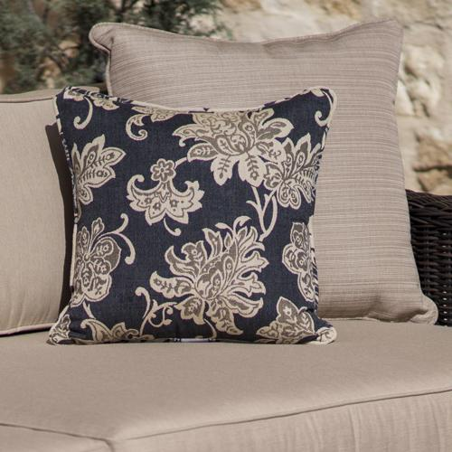 "Plush 6"" cushions are layered to allow moisture to completely drain. Sunbrella fabric is fade resistant to last for years."