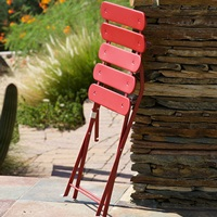 Chairs fold for easy storage when not in use.