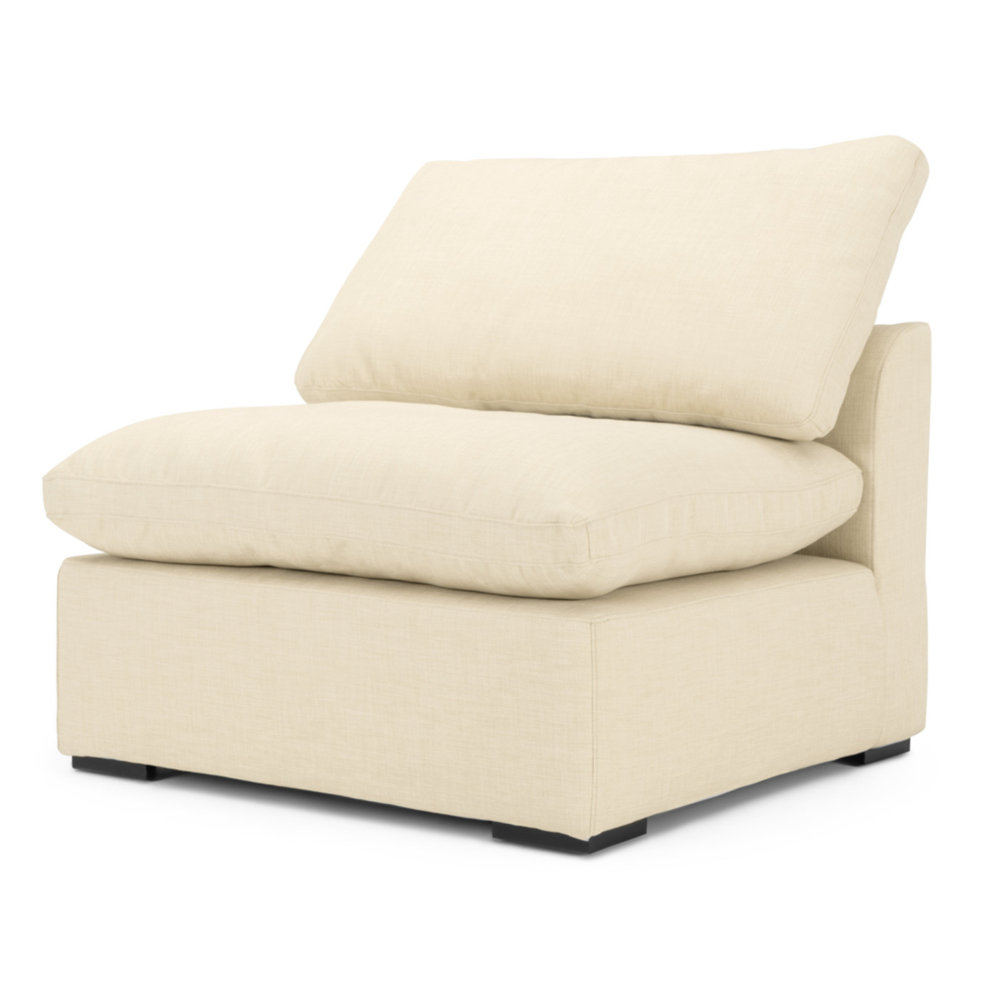 Aria Armless Chair - Beige