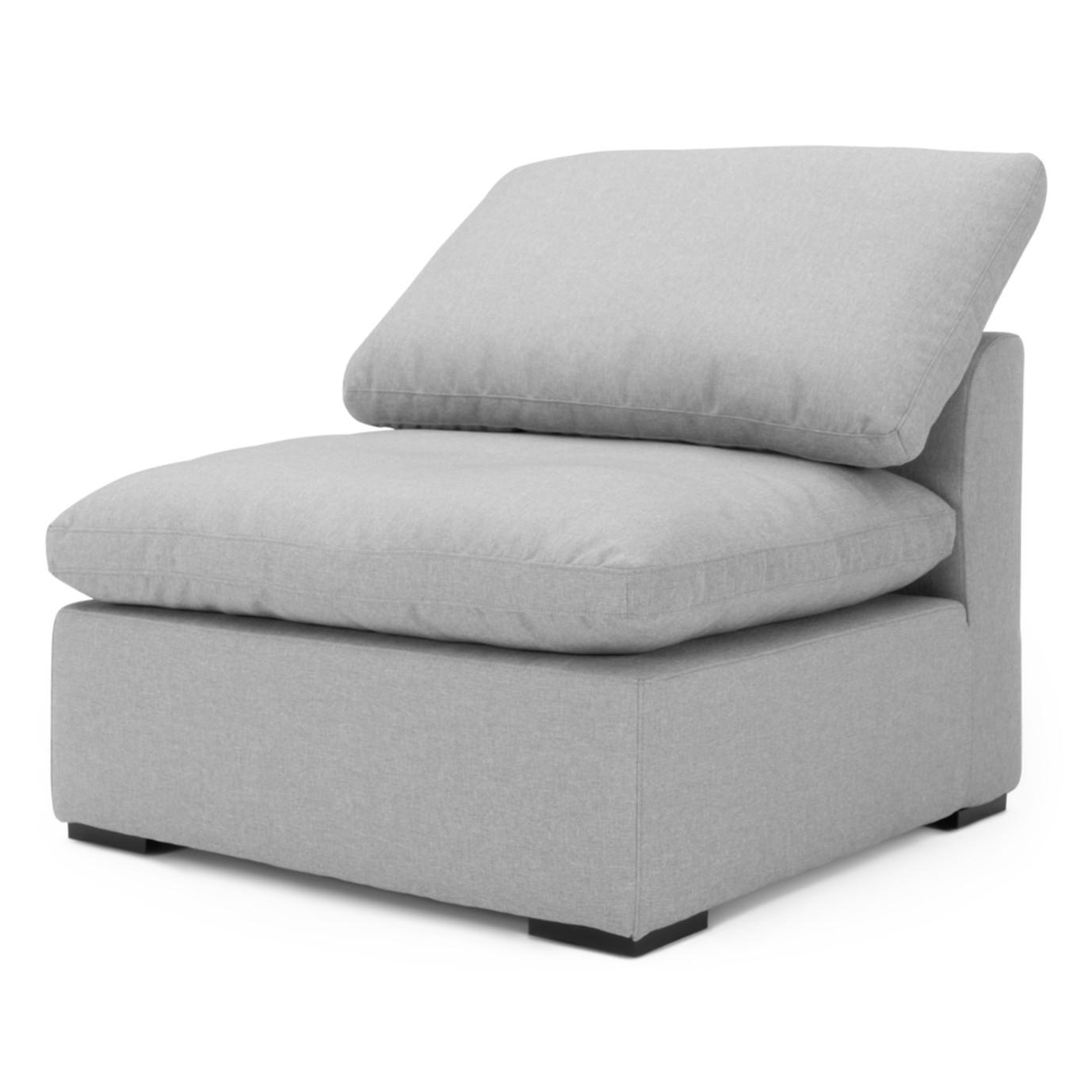 Aria Armless Chair - Gray