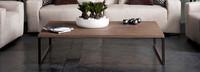 Manhattan 59x43in Conversation Table - Burnt Oak Veneer