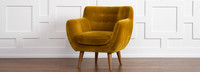 Rhodes Mid-Century Modern Tufted Arm Chair - Antique Gold