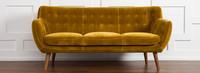 Rhodes Mid-Century Modern Tufted Sofa - Antique Gold