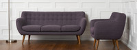 Rhodes Mid-Century Modern Tufted Sofa - Venga Purple