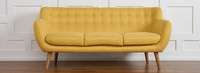Rhodes Mid-Century Modern Tufted Sofa - Sunset Yellow