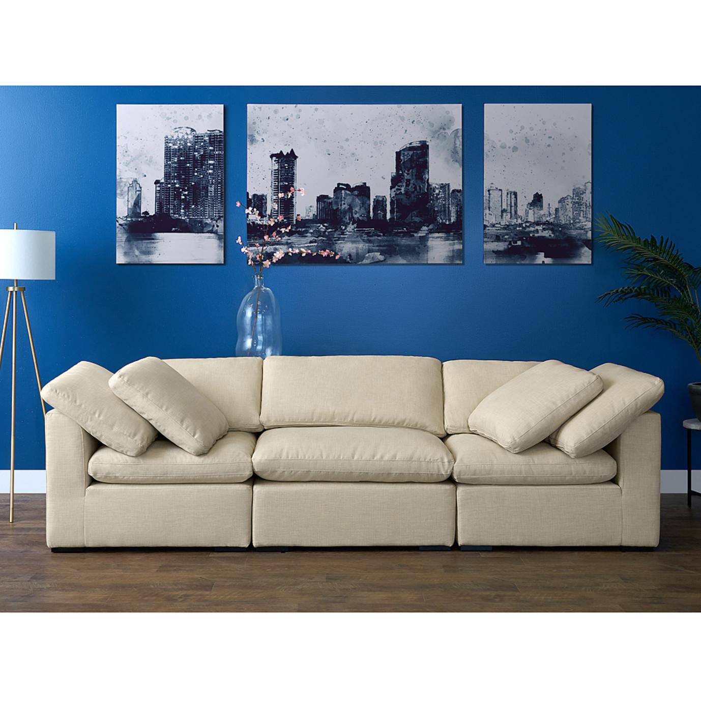 Aria 3 Piece Sofa Set - Beige