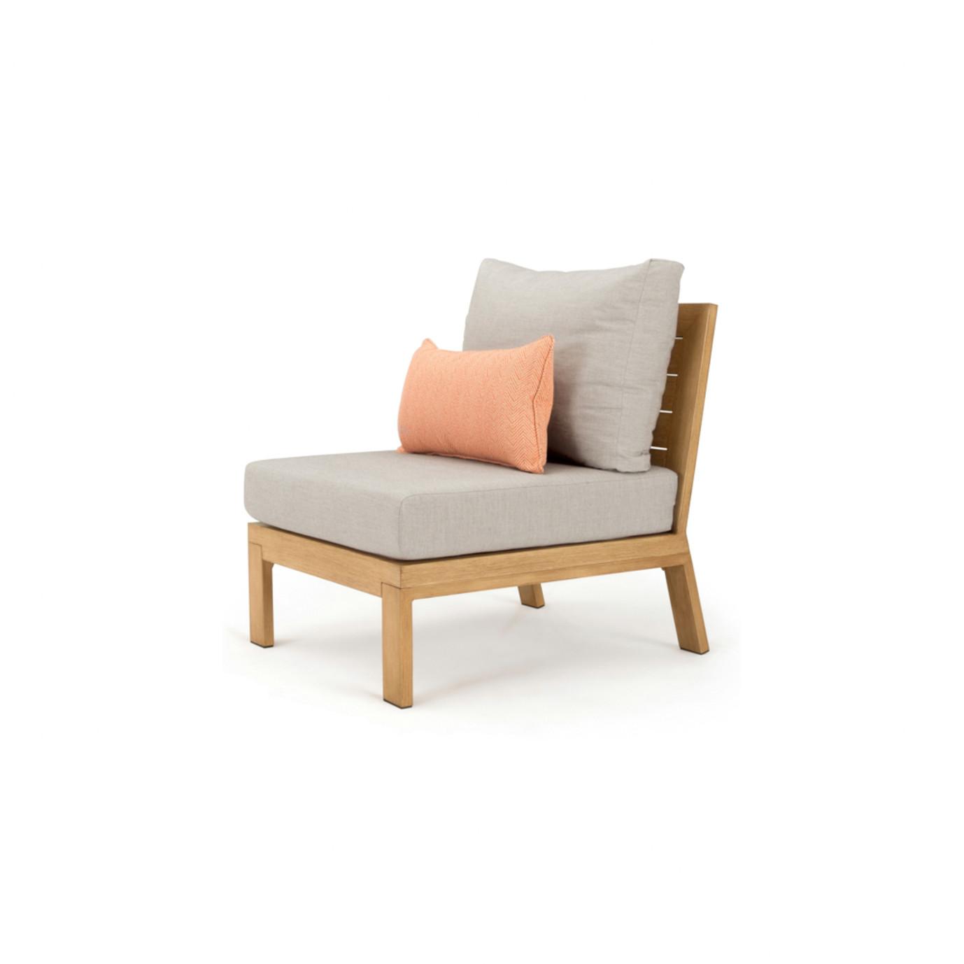 Capri Armless Chair - Cast Silver