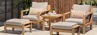 Capri™ 5 Piece Club Chair & Ottoman Set - Cast Silver
