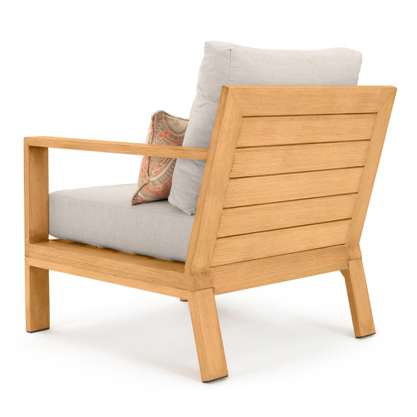 Capri 5 Piece Club Chair & Ottoman Set - Cast Silver