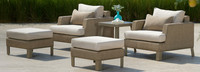 Portofino® Sling 5 Piece Club Chair Set - Beige Fennel