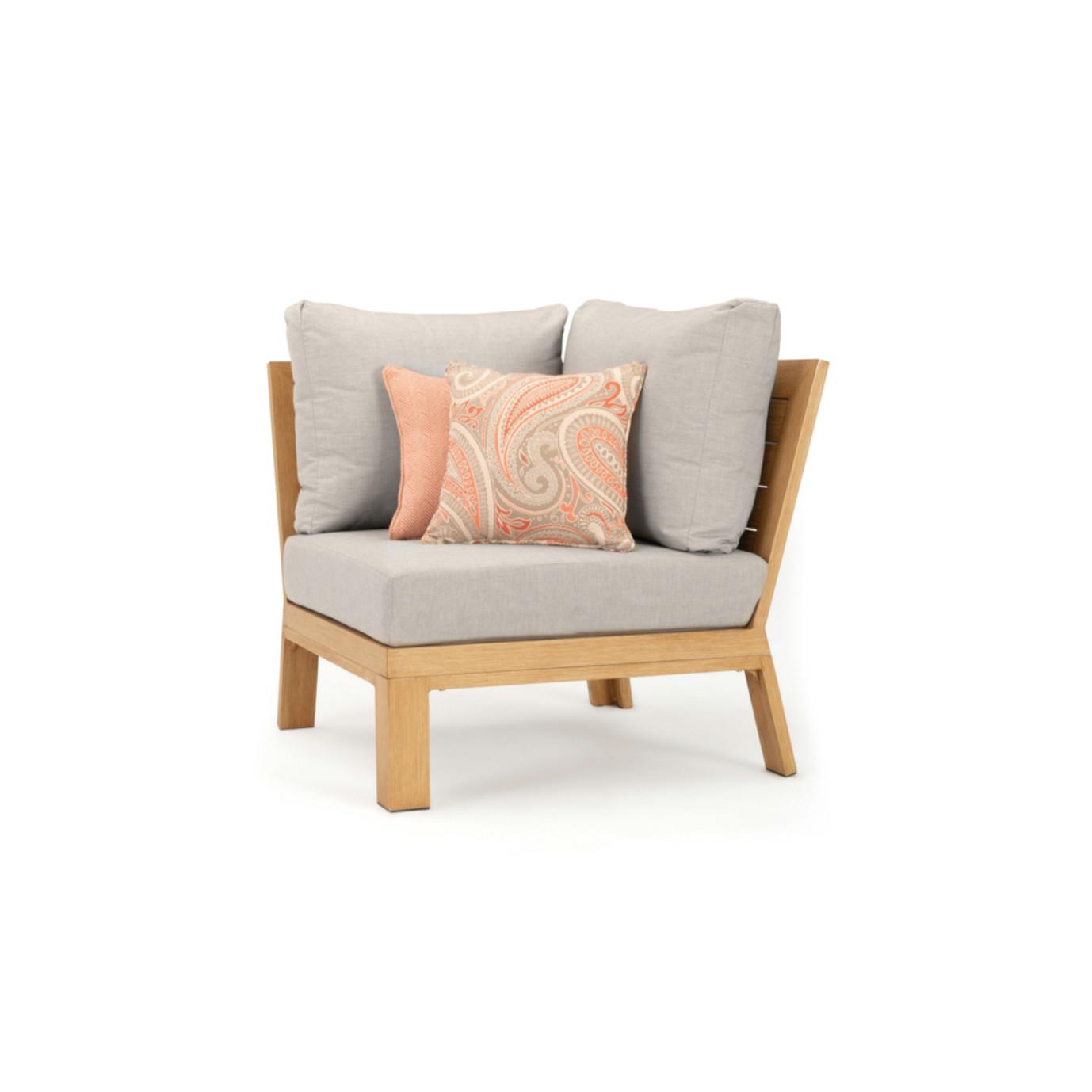 Capri Corner Chair - Cast Silver