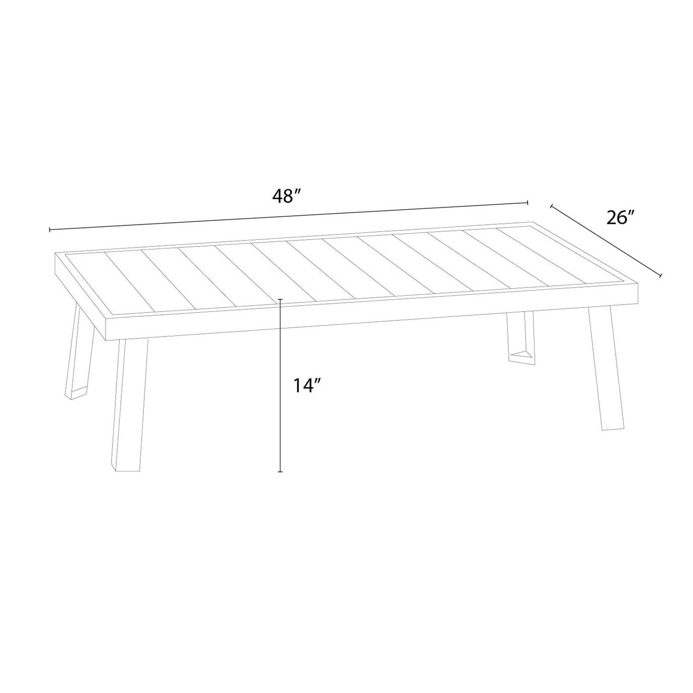 Portofino Sling™ 47x26 Coffee Table - Gray