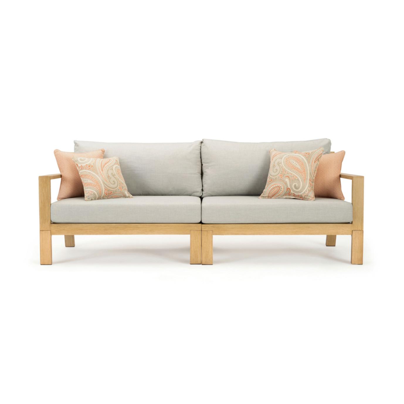 Capri 88in Sofa - Cast Silver