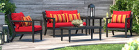 Thelix 5 Piece Seating Set - Navy Blue