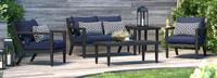 Thelix 5 Piece Seating Set - Spa Blue