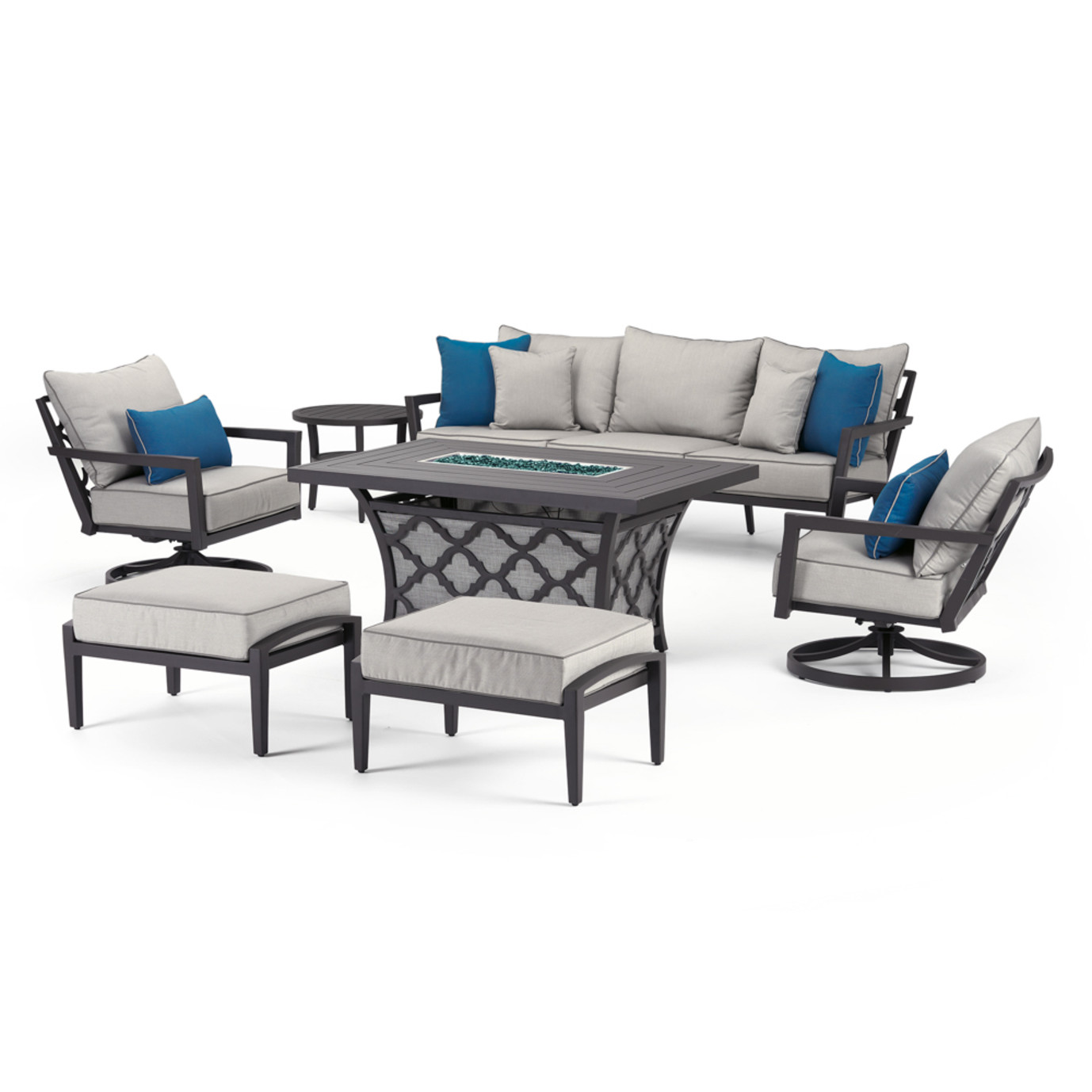 Venetia 7 Piece Motion Fire Seating Set