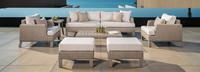 Portofino® Sling 8 Piece Deep Seating Set - Beige Fennel