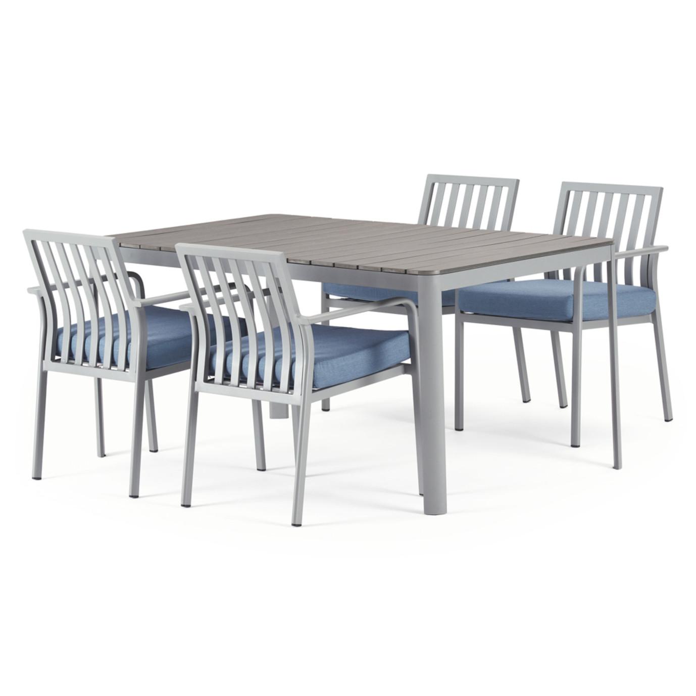 Vera 5 Piece Dining Set - Newport Blue