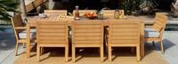 Capri™ 9 Piece Dining Set - Cast Silver
