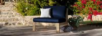 Benson™ Armless Chairs - Bliss Blue