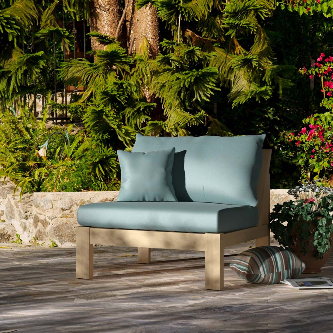 Benson™ Armless Chairs - Bliss Blue