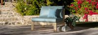 Benson™ Armless Chairs - Navy Blue