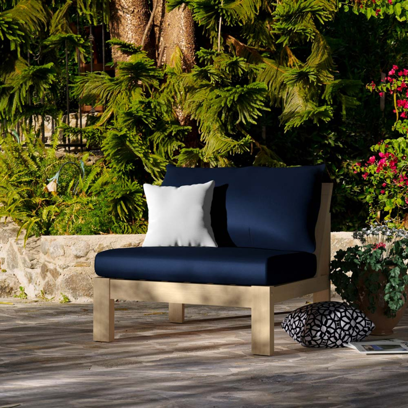 Benson Armless Chairs - Navy Blue