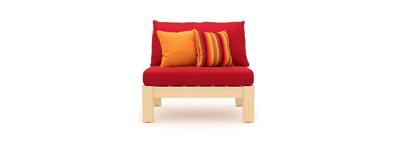 Benson™ Armless Chairs - Sunset Red