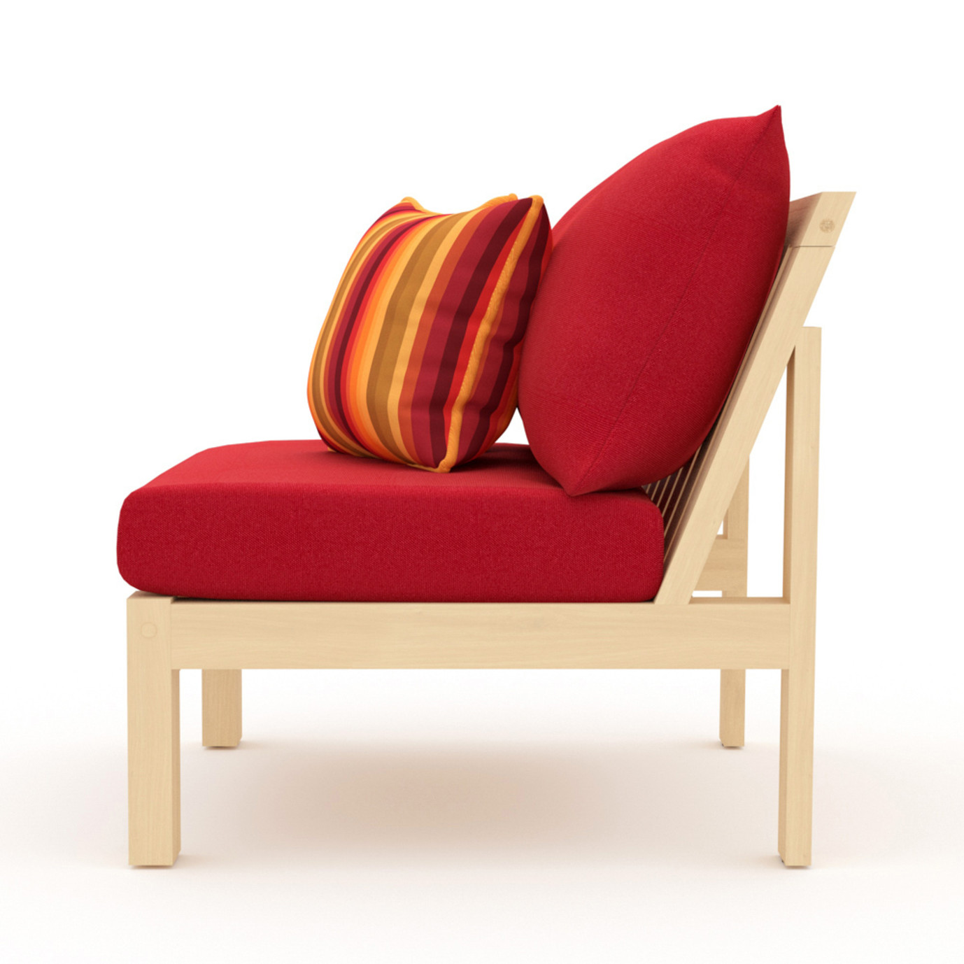 Benson Armless Chairs - Sunset Red