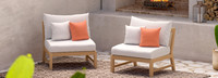 Kooper™ Armless Chairs - Cast Coral