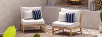 Kooper™ Armless Chairs - Spa Blue