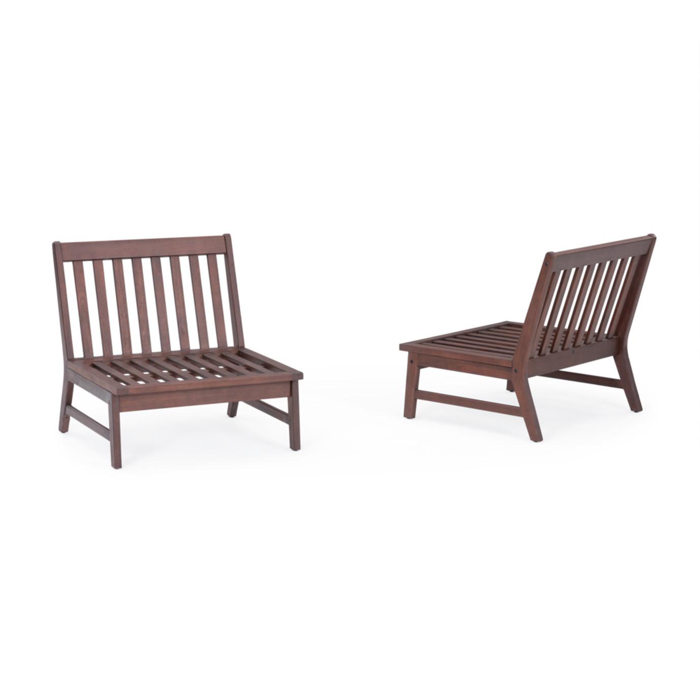 Vaughn™ Armless Chairs - Bliss Blue