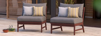 Vaughn™ Armless Chairs - Charcoal Gray
