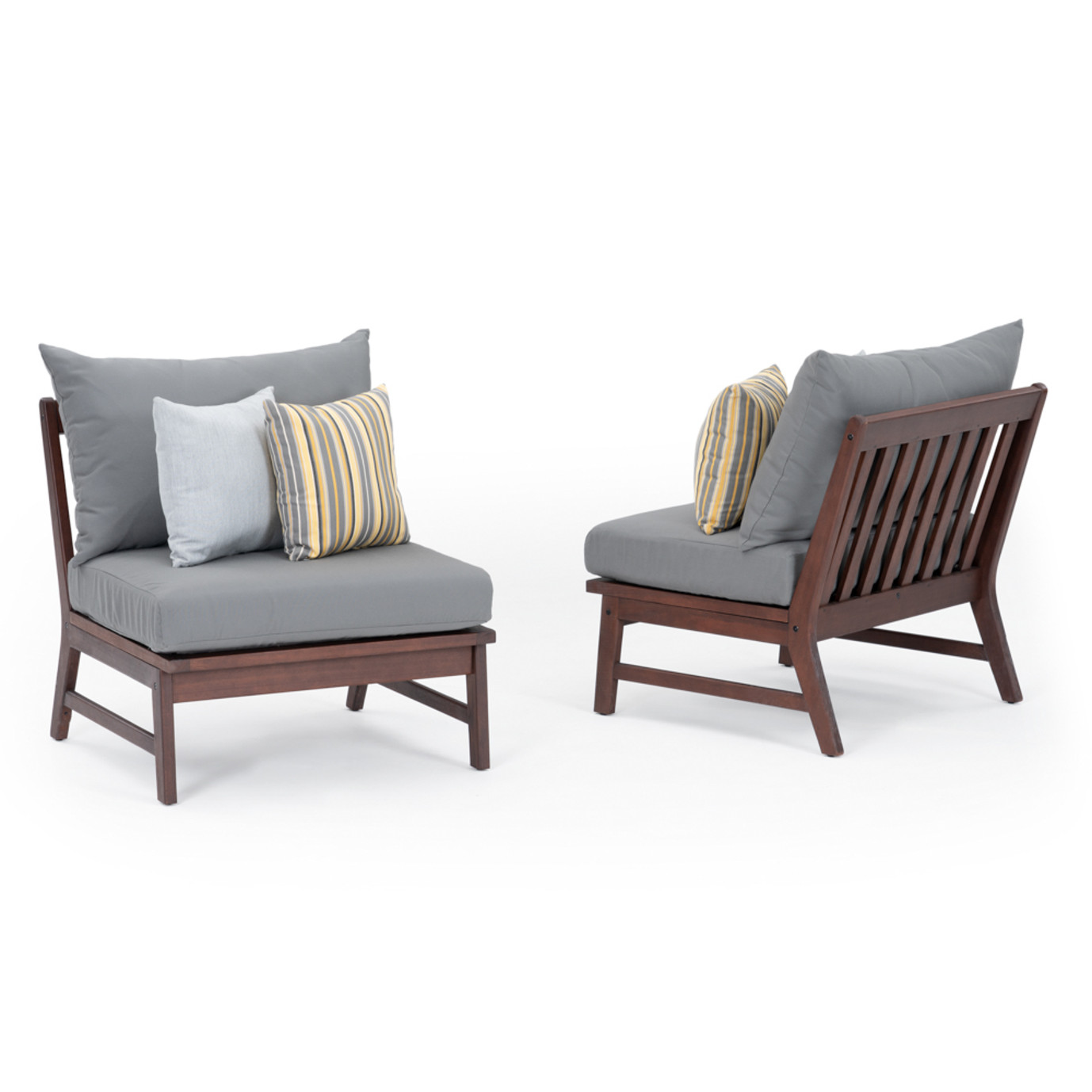 Vaughn Armless Chairs - Charcoal Gray