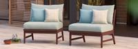 Vaughn™ Armless Chairs - Cast Coral