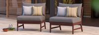 Vaughn™ Armless Chairs - Navy Blue