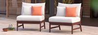 Vaughn™ Armless Chairs - Spa Blue