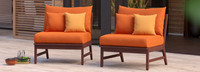 Vaughn™ Armless Chairs - Sunset Red