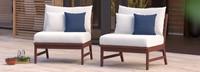 Vaughn™ Armless Chairs - Tikka Orange
