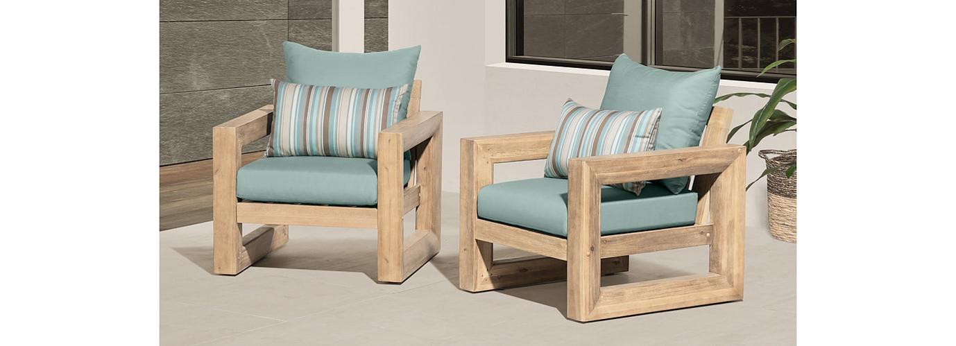 Benson™ Club Chairs - Bliss Blue