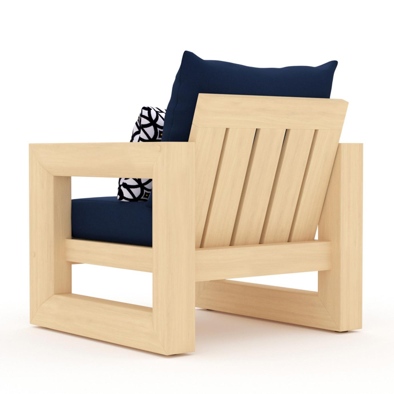 Benson Club Chairs - Navy Blue