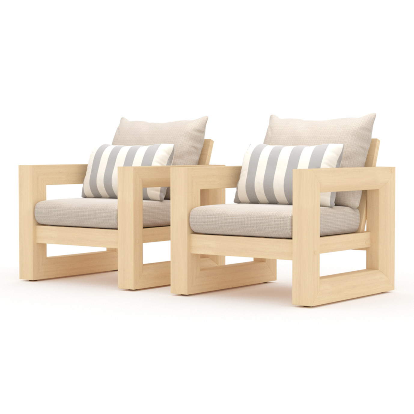 Benson Club Chairs - Slate Gray
