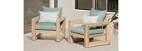Benson™ Club Chairs - Spa Blue