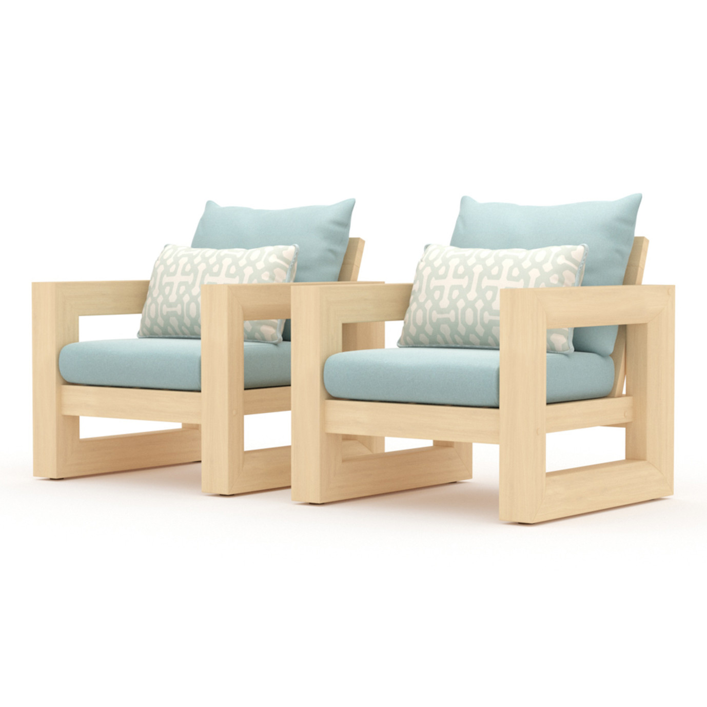 Benson Club Chairs - Spa Blue