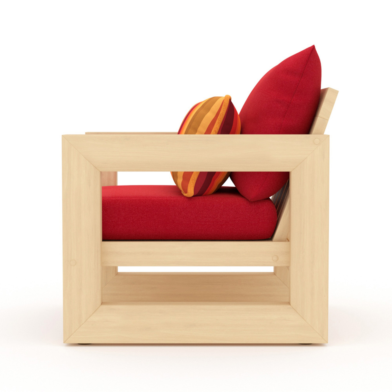 Benson Club Chairs - Sunset Red